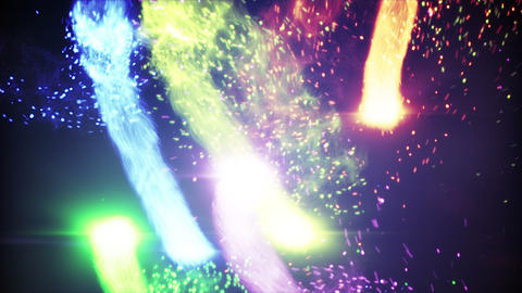 multicolor balls of energy rushing loop background Animation