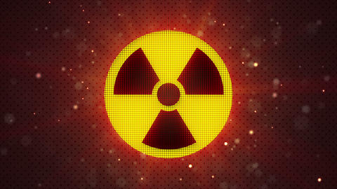 radioactive symbol loopable industry background Animation