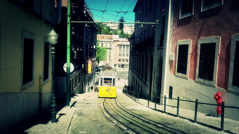 Lisbon Glory Lift Tram stock footage