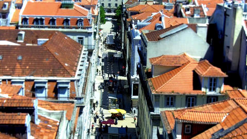 Lisbon Santa Justa Lift View stock footage