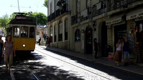Lisbon Yellow Tram Live Action