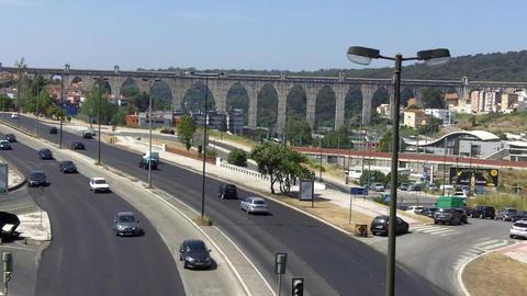 The Águas Livres Aqueduct Live Action