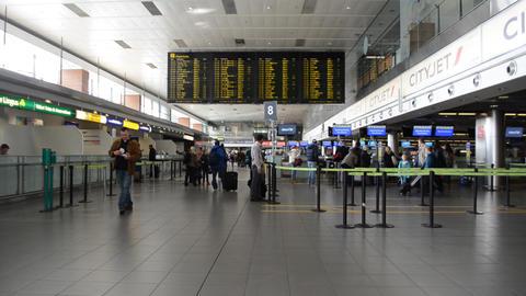 International Airport Terminal Footage