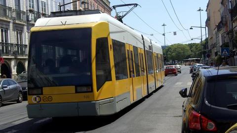 Lisbon Modern Tram Footage