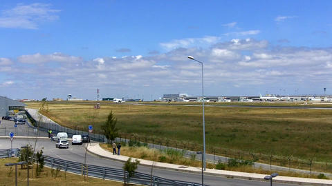 Plane Landed in Lisbon Airport Live Action
