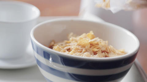 Pouring Cereal Stock Video Footage