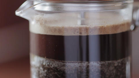 Cafetiere of coffee Stock Video Footage