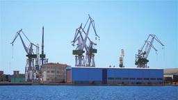 Shipyard in Pula, Croatia Stock Video Footage