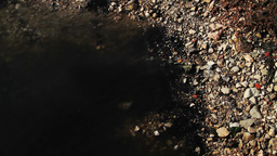 Polluted coastline Stock Video Footage
