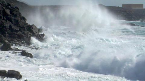 incredible bomb burst crushing wave audio Stock Video Footage