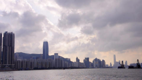 Hong Kong victoria harbour Stock Video Footage