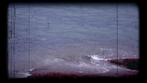 Super8 sea footage Stock Video Footage