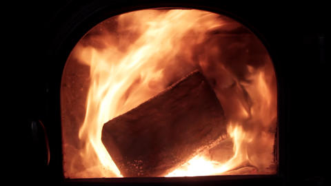 Looping wood fire Stock Video Footage