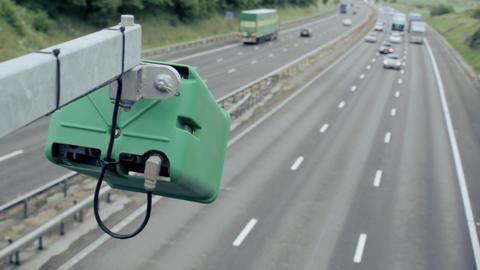 Motorway Traffic Stock Video Footage