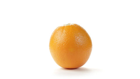 Orange Rotation Stock Video Footage