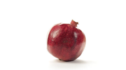Pomegranate rotating Stock Video Footage