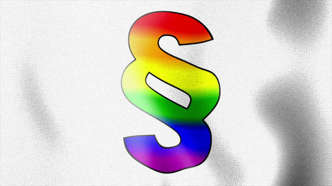 paragraph rainbow flag waving Stock Video Footage