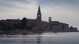 Porec city, Croatia Stock Video Footage