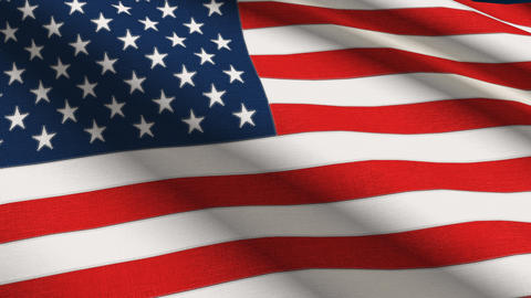 USA linen flag with stitches seamless loop 4K Stock Video Footage