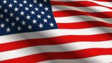USA Linen Flag With Stitches Seamless Loop 4K stock footage
