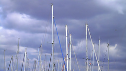 Verticals of boat masts Stock Video Footage