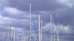 Verticals of boat masts Footage