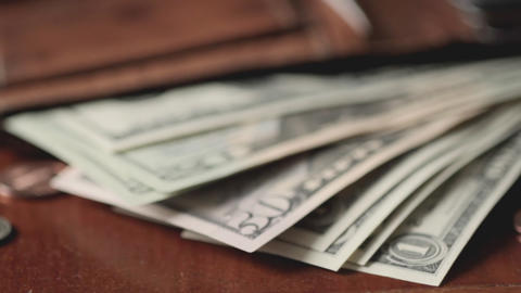 Wallet with money Stock Video Footage