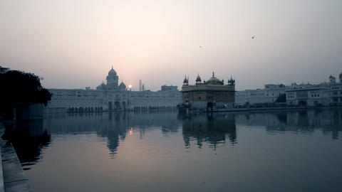 architecture of India at sunset Footage
