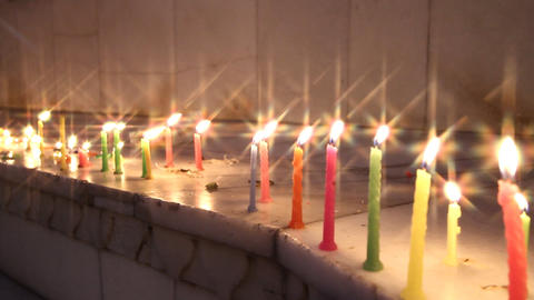 religious candlelit ceremony Stock Video Footage