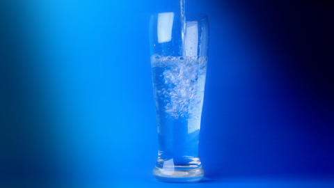 Crystal Clear Water In A Glass stock footage