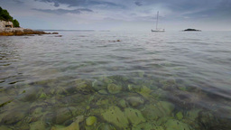 Lagoon in Adriatic Sea at summer, Croatian coastline Stock Video Footage