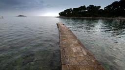 Lagoon in Adriatic Sea at summer, Croatian coastline Stock Video Footage