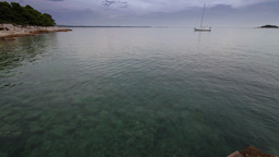 Lagoon in Adriatic Sea at summer, Croatian coastline Footage