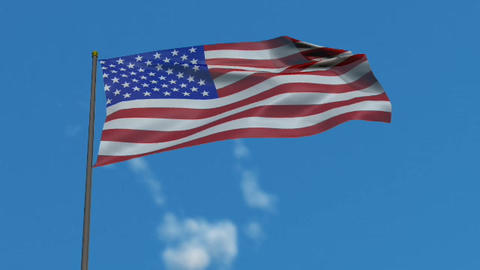 American Flag Animation Preview Stock Video Footage