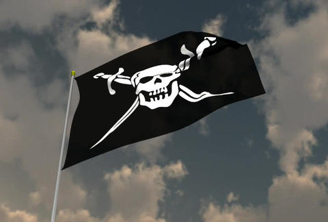 Jolly Roger Flag Animation