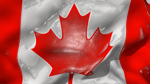Flag of Canada with effects Stock Video Footage