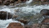 Creek With Fairly Large Rocks stock footage