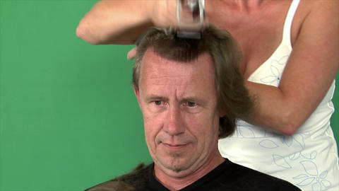 two camera time lapse haircut extrem Stock Video Footage