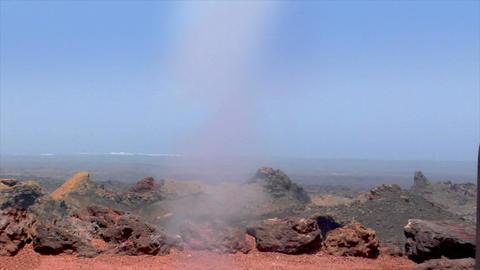 volcanic crater water vapor eruption Stock Video Footage