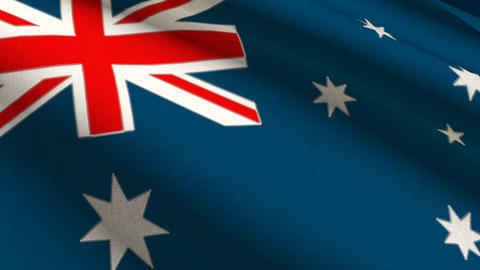 Australia Linen Flag w/ Stitches Seamless Loop 4K Animation