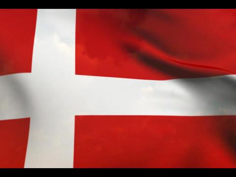Flag of Denmark Stock Video Footage