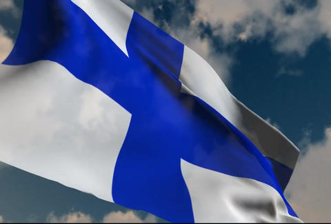 Flag of Finland Stock Video Footage