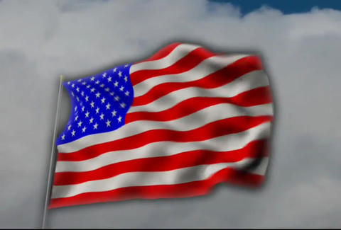 AmericanFlagCloudsKeying Animation