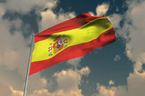 Flag of Spain Animation