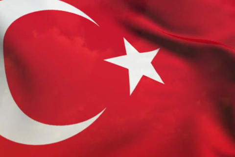 Flag of Turkey Stock Video Footage