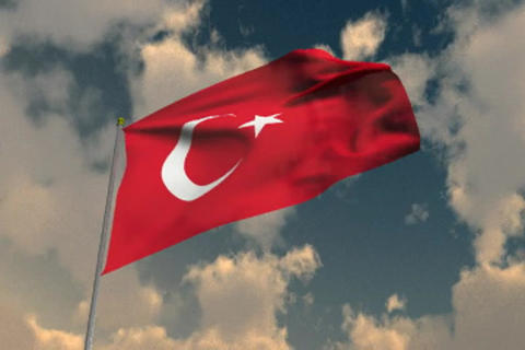 Flag of Turkey Animation