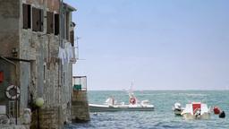 House by the sea, Rovinj, Croatia Footage