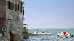 House by the sea, Rovinj, Croatia Stock Video Footage