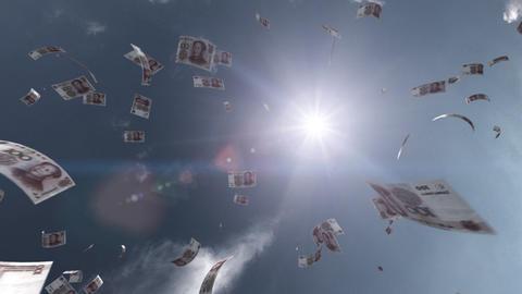Money falling Aa6 cny HD Stock Video Footage