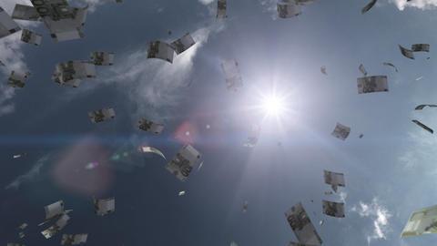 Money falling Aa6 euro HD Stock Video Footage